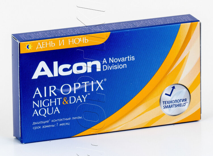 Контактные линзы AIR OPTIX NIGHT & DAY (3 шт)