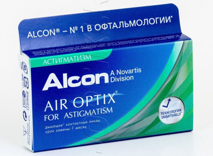 Контактные линзы AIR OPTIX ASTIGMATISM (3 шт)